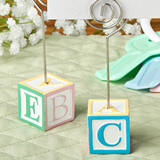 Adorable alphabet block design card/note holders