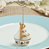 Vintage Sail Boat Themed place card and photo holders from Fashioncraft