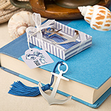 Nautical themed anchor book mark