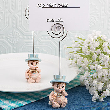 Vintage Baby Boy Place Card Holder from Fashioncraft