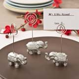 Good luck silver Indian elephant place card or photo holder