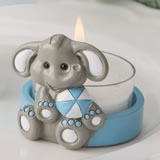 Adorable Baby Elephant With Blue Design Key Chain Nice