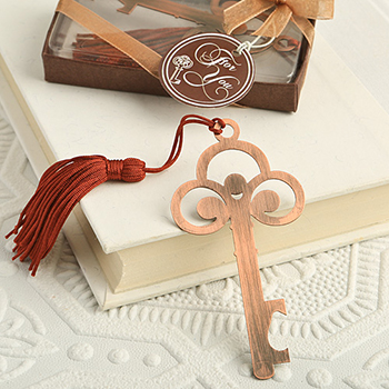 Vintage Copper Color  Skeleton Key Bookmark