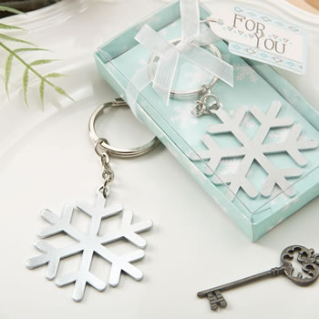 Stunning Snow flake design silver metal key chain from fashioncraft