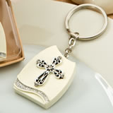 Beautiful Cross themed plaque key chain from fashioncraft
