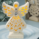 Religious Glowing ivory color angel statue with LED light