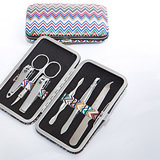 <em>Premier Favor Collection</em> Chevron  Design Travel  Manicure Set