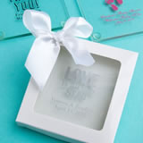 White Gift Box For Personalized Glass Coasters