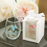 White Gift Box For Personalized Petite Stemless Wine Tasting Glass