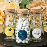 Personalized Wanderlust expressions collection Vintage Glass milk bottle with round cork top