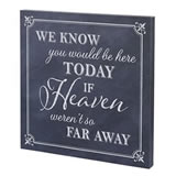 "Lillian Rose ""Here Today"" Canvas Wedding Sign"