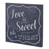 "Lillian Rose ""Love is Sweet"" Canvas Wedding Sign"