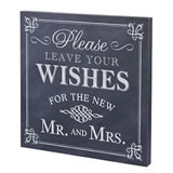 "Lillian Rose ""Leave Your Wishes"" Canvas Wedding Sign"