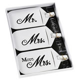 Lillian Rose Set of 3 Mr., Mrs. & More Mrs. Luggage Tags