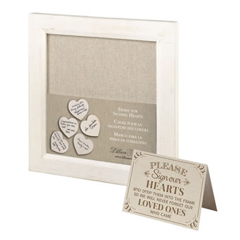Lillian Rose Small Guest Signing Hearts Frame