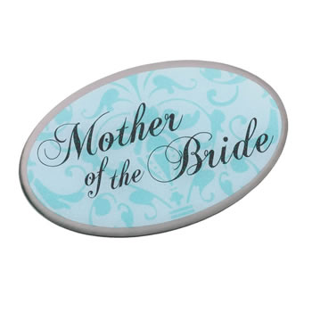 Lillian Rose Mother of Bride Oval Pin - Aqua