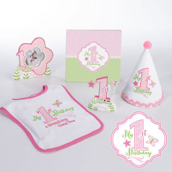 Lillian Rose First Birthday Party Set Pink