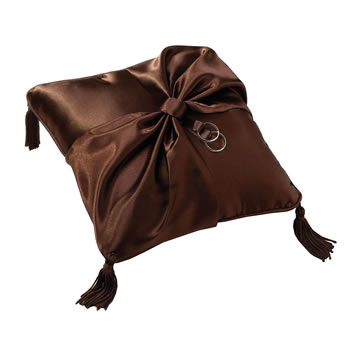 Lillian Rose Brown Ring Bearer Pillow