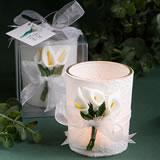 Floral Candle Wedding Favors