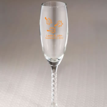 Personalized Fall Champagne Flute Favors