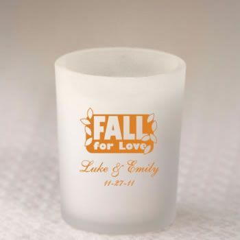 Personalized Fall Votive Favors