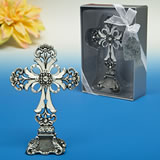 Antique Pewter finished Cross statue from the <i>Premier Favor Collection</i>