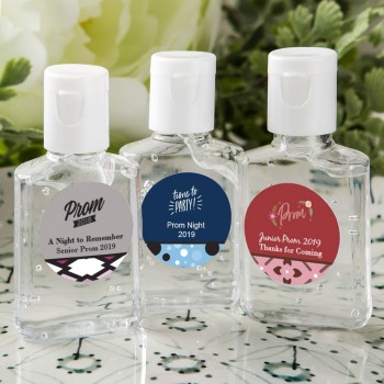 personalized expressions hand sanitizer favors 30 ml size- prom design