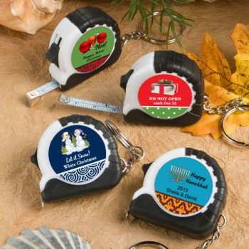 Design Your Own Collection Key Chain/Measuring Tape Favors - Holiday Themed