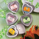 <em>Personalized Expressions Collection</em> Scented Heart Shaped Travel Candles