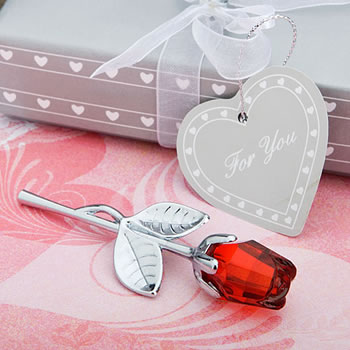 Choice Crystal Collection Red Rose Favors