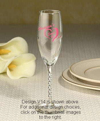 Personalized Sweet Sixteen Champagne Flute Favors