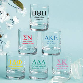 Personalized Votive / Shot Glasses 3.5oz: Greek Designs