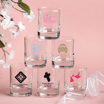 Personalized Votive / Shot Glass Favors - 3.5oz - Baby Shower Themed
