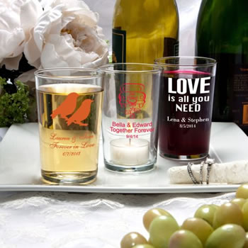 Silkscreened Glassware Collection  Bistro glasses