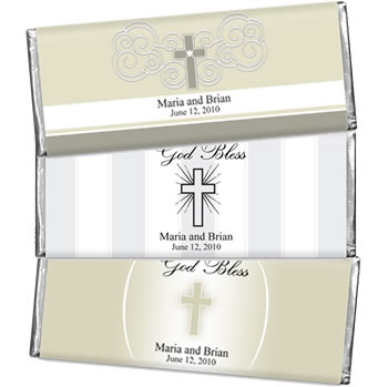 Hersheys Communion Theme 1.5 oz Chocolates Wedding Favors (3 designs available)