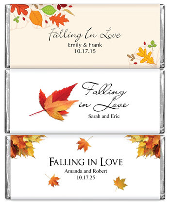 Hersheys Fall Theme 1.5 oz Chocolates Wedding Favors (5 designs available)