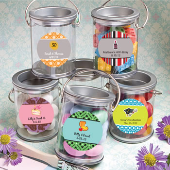 Sweet 16 Design Your Own Collection Mini Paint Cans Favors