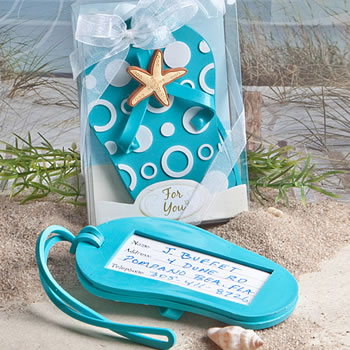 7b537955d Flip flop luggage tag favors - Nice Price Favors