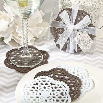 Lace-Like Felt Coaster Sets
