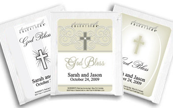 Personalized Christening Theme Tea Favors -  (3 designs available)