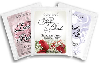 Personalized Tea Favors - Flower Theme (17 designs available)
