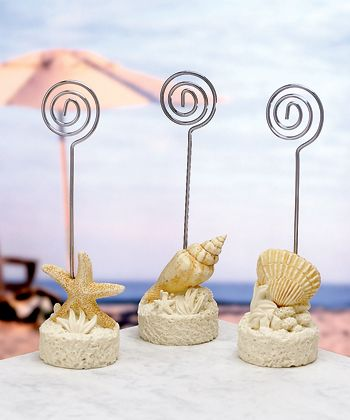Beach Themed Placecard Holders