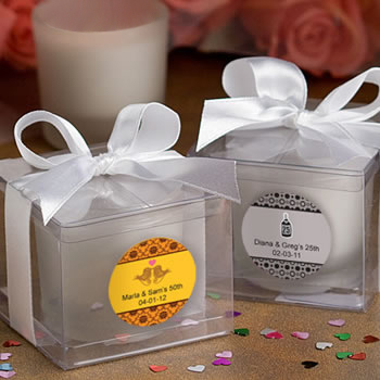 Fashioncraft's Personalized Expressions  Collection Candle Favors  - Anniversary