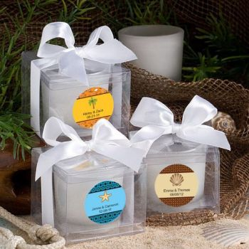 Fashioncraft's Personalized Expressions  Collection Candle Favors - Beach