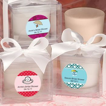 Fashioncraft's Personalized Expressions  Collection  Candle Favors - Bridal Shower