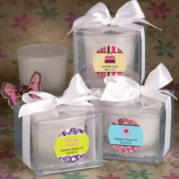 Personalized Collection Sweet Sixteen Candle Favors