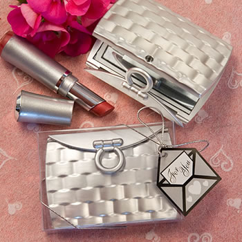 Pocketbook-Design Elegant Reflections Collection Mirror Compact Favors