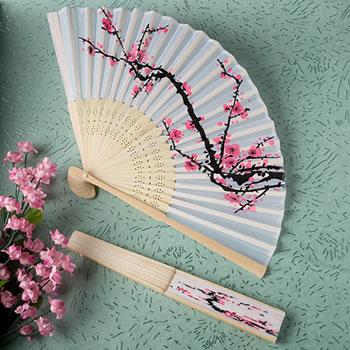 Pink Silk Fans Asian Beach Garden Wedding Favors