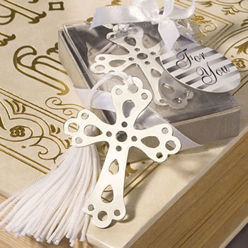 Book Lovers Collection  Cross Bookmark Baptism Favors