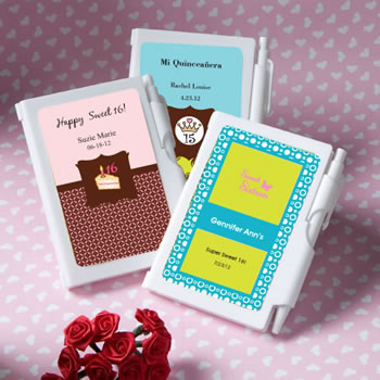 Personalized Notepad Sweet 16 Favors
